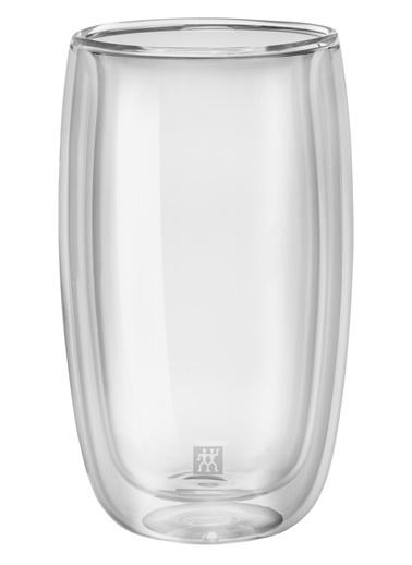 Zwilling Çift Camlı 2'li Latte Macchiato Bardak Seti-  350 ml   Renkli